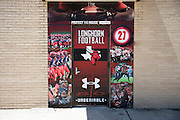 Under Armour branded door wraps at Cedar Hill High School in Cedar Hill, Texas on August 24, 2016. &quot;CREDIT: Cooper Neill for The Wall Street Journal&quot;<br /> TX HS Football sponsorships