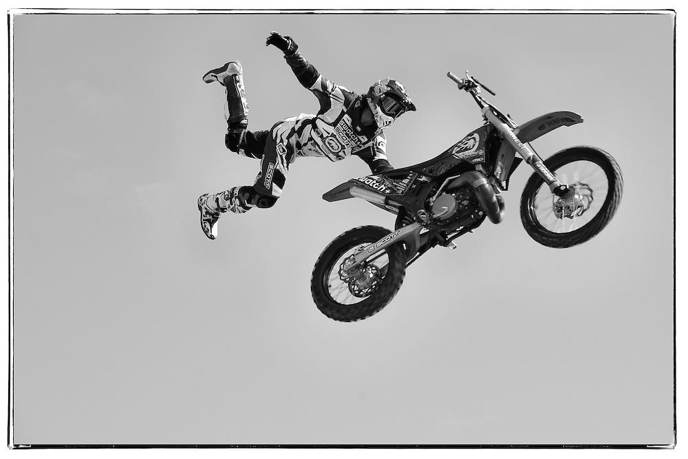 Mr. Matthieu Rebeaud, world champion of Freestyle Motocross (FMX)