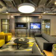 Social Lounge at former Folgers Coffee Plant, newly renovated into residential apartment units