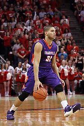 15 January 2016: D.J. Balentine(31) during the Illinois State Redbirds v Evansville Purple Aces at Redbird Arena in Normal Illinois (Photo by Alan Look)
