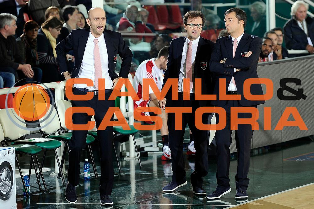 DESCRIZIONE : Avellino Lega A 2014-2015 Sidigas Avellino EA7 Emporio Armani Milano<br /> GIOCATORE : Luca Banchi Massimo Cancellieri Mario Fioretti<br /> CATEGORIA : delusione<br /> SQUADRA : EA7 Emporio Armani Milano<br /> EVENTO : Campionato Lega A 2014-2015<br /> GARA : Sidigas Avellino EA7 Emporio Armani Milano<br /> DATA : 03/11/2014<br /> SPORT : Pallacanestro<br /> AUTORE : Agenzia Ciamillo-Castoria/Max.Ceretti<br /> GALLERIA : Lega Basket A 2014-2015<br /> FOTONOTIZIA : Avellino Lega A 2014-2015 Sidigas Avellino EA7 Emporio Armani Milano<br /> PREDEFINITA :