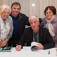 Mary McAllister, John and Ann Guerin with Author Ollie Byrnes at the launch of Clare Roots Society's latest publication, 'Marian Avenue 1956-2017 'A Social, Sporting and Photographic History' by author Ollie Byrnes
