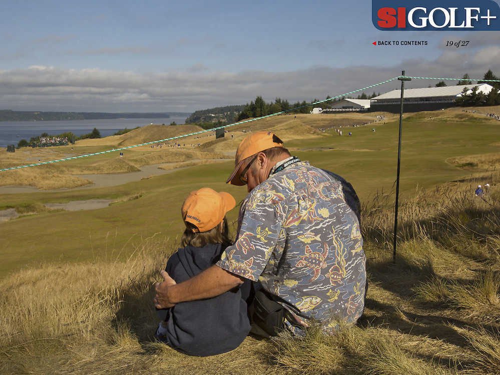 "The US Open is always held on Fathers Day weekend. Photographed for Sports Illustrated's US Open photo essay ""Behind The Open Curtain: Plotting the Course."" 2 of 8"