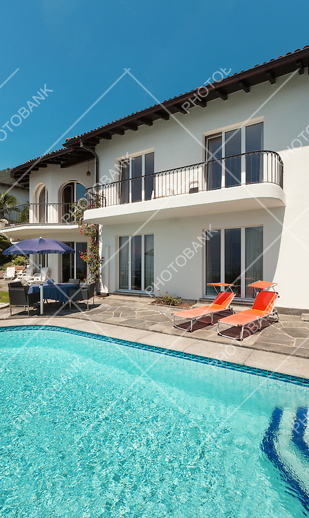 beautiful terrace with swimming pool