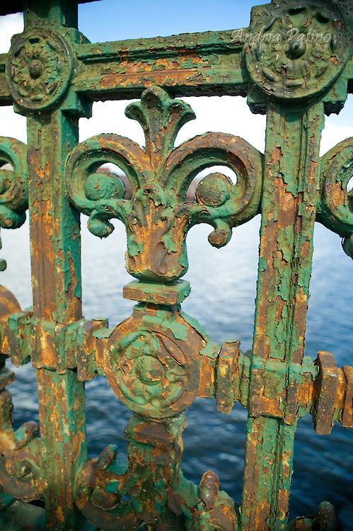Pealing Paint on Iron work,  Longfellow Bridge, Boston