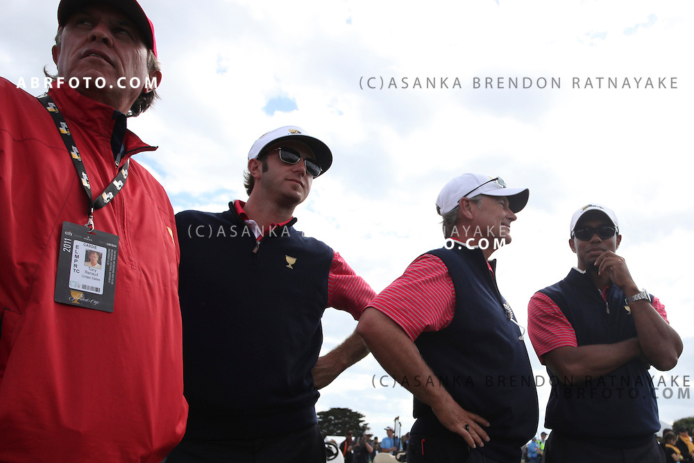 20 November 2011 : during the fifth-round Sunday Final round single ball matches at the Presidents Cup at the Royal Melbourne Golf Club in Melbourne, Australia. .
