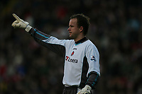 Photo: Lee Earle.<br /> Charlton Athletic v Liverpool. The Barclays Premiership. 16/12/2006. Thomas Myhre started in goal for Charlton.