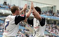 Photo: Rich Eaton.<br /> <br /> Coventry City v Preston North End. Coca Cola Championship. 14/04/2007. Brett Ormerod left and David Nugent celebrate Ormerod scoring Prestons 4th goal