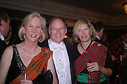 Deirdre Livingstone, Robert Harrison-Strickland and the hon  Alexandra Foley. The  Royal Caledonian Ball in aid of The Royal Caledonian Ball Trust held at The Grosvenor House Hotel, Park Lane, London W1.  28  April 2005. ONE TIME USE ONLY - DO NOT ARCHIVE  © Copyright Photograph by Dafydd Jones 66 Stockwell Park Rd. London SW9 0DA Tel 020 7733 0108 www.dafjones.com