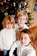 December 23, 2009: Christmas Portraits of Chelby, Jack, and Sydney Lawrence at their home in Lake Placid, N.Y. (Photo/Todd Bissonette)