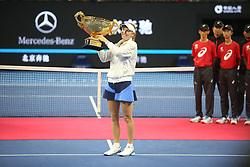 October 8, 2018 - Beijing, Beijing, China - Beijing, CHINA-Professional tennis player Caroline Wozniacki defeats Anastasija Sevastova 2-0 and wins a gold medal at 2018 China Open, October 7th, 2018. (Credit Image: © SIPA Asia via ZUMA Wire)