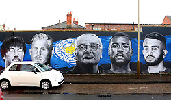 The mural to The Leicester City Premier League winning side with former Manager Claudio Ranieri featured - Mandatory by-line: Robbie Stephenson/JMP - 27/02/2017 - FOOTBALL - King Power Stadium - Leicester, England - Leicester City v Liverpool - Premier League
