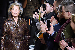 Kate Moss walk the runway at the Louis Vuitton Homme show during Paris Men's Fashion Week Fall/Winter 2018-2019 on January 18, 2018 in Paris, France. Photo by Aurore Marechal/ABACAPRESS.COM    622177_027 Paris France