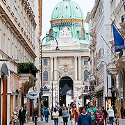 Pedestrian street in center of Vienna's old town