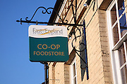 East of England Co-operative Society shop sign