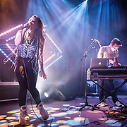 Sylvan Esso performing at 930 Club on March 12, 2015.