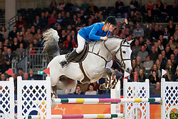Hoekstra Marriet, NED, El Clarimo<br /> KWPN Stallionshow - 's Hertogenbosch 2018<br /> © Hippo Foto - Dirk Caremans<br /> 01/02/2018