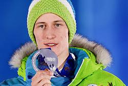 10-02-2014 ALGEMEEN: OLYMPIC GAMES MEDAILLE CEREMONIE: SOTSJI<br /> Ceremony Medal Plaza / Silver medal Peter Prevc SLO on Ski Jumping <br /> Foto: Ronald Hoogendoorn / Sportida