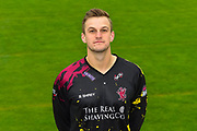 Head shot.  Tim Rouse wearing the Somerset Vitality Blast kit at the media day at Somerset County Cricket Club at the Cooper Associates County Ground, Taunton, United Kingdom on 11 April 2018. Picture by Graham Hunt.