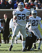 Kansas State linebacker Ben Leber (52) during game action against Missouri at Faurot Field in Columbia, Missouri in 1999.