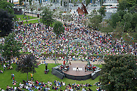 17/07/2016 Repro free: Galway international Arts Festival and Les P'Tits Bras presented The Scent of Sawdust in Eyre Sq on the middle Sunday of the Festival . Photo:Andrew Downes, xposure