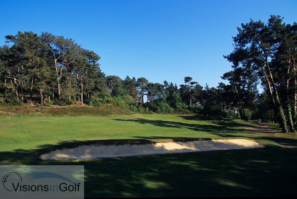 Parkstone GC, England, Uk 1st hole<br /> Photo Credit Mark Newcombe / visionsingolf.com