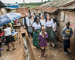 "Crown Princess Mary and minister for development Ulla Toernaes visits Kenya focusing on women's rights. Here they are on a tour of the huge slum area ""Kibera Slum"". 28 Nov 2018 Pictured: Crown Princess Mary. Photo credit: HAnne Juul/Aller Media/MEGA TheMegaAgency.com +1 888 505 6342"