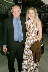 The HON.MARY MONTAGU and her father LORD MONTAGU OF BEAULIEU  at a party in London on 13th May 1997.LYG 64