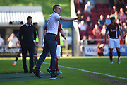 Northampton Town caretaker manager Dean Austin  during the EFL Sky Bet League 1 match between Northampton Town and Oldham Athletic at Sixfields Stadium, Northampton, England on 5 May 2018. Picture by Dennis Goodwin.
