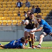 Action during the  the Mitre 10 Cup rugby union game played between Wellington  v Otago played at Westpac Stadium , Wellington, New Zealand, on 15 September  2019.   Final score 54-24  to Wellington.