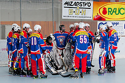 Team Slovenia at inline hockey match between Dinamiti Horjul and Slovenia at HorjulCup, on June 9, 2011 in Sportni park, Horjul, Slovenia. (Photo by Matic Klansek Velej / Sportida)