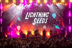 DOHA, QATAR - Friday, December 20, 2019: The Lightning Seeds performs at the official Fan Zone at the Doha Golf Club during the FIFA Club World Cup Qatar 2019. (Pic by David Rawcliffe/Propaganda)