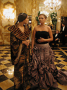 Margherita Missoni and Xenia Gorbechev. Crillon Debutantes Ball 2002. Paris. 7 December 2002. © Copyright Photograph by Dafydd Jones 66 Stockwell Park Rd. London SW9 0DA Tel 020 7733 0108 www.dafjones.com