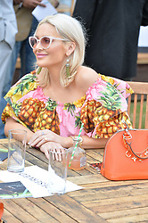 Stephanie Pratt at the Laureus King Power Cup polo match held at Ham Polo Club, Richmond, London England. 22 June 2017.<br /> Photo by Dominic O'Neill/SilverHub 0203 174 1069 sales@silverhubmedia.com