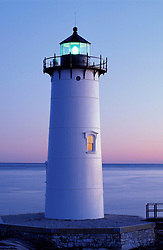 Portsmouth Light.  Fort Constitution.  Piscataqua River.  Atlantic Ocean.  New Hampshire seacoast.  New Castle, NH