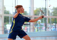 20 Aug 2016: Nathan Kelly, from Carlow. Badminton U15 Boys.   2016 Community Games National Festival 2016.  Athlone Institute of Technology, Athlone, Co. Westmeath. Picture: Caroline Quinn