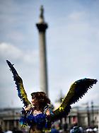 A transgender woman attends the annual Gay Pride parade in London, Britain, 29 June 2013. BOGDAN MARAN / BPA