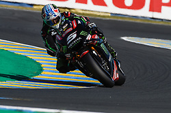 May 18, 2018 - Le Mans, France - Johann Zarco (Monster Yamaha Tech3)  during the practice sessions.during MotoGP Le Mans practice sessions in France  (Credit Image: © Gaetano Piazzolla/Pacific Press via ZUMA Wire)