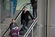 "17.JANUARY.2012. PARIS<br /> <br /> JEAN DUJARDIN WITH HIS WIFE ALEXANDRA LAMY AND LUDOVIC BOURCE ARRIVE AT ROISSY CHARLES DE GAULLE IN FRANCE. JEAN DUJARDIN WON THE GOLDEN GLOBE FOR THE BEST COMEDY ACTOR FOR HIS PERFORMANCE IN THE MOVIE, ""THE ARTIST""<br /> <br /> BYLINE: EDBIMAGEARCHIVE.COM<br /> <br /> *THIS IMAGE IS STRICTLY FOR UK NEWSPAPERS AND MAGAZINES ONLY*<br /> *FOR WORLD WIDE SALES AND WEB USE PLEASE CONTACT EDBIMAGEARCHIVE - 0208 954 5968*"