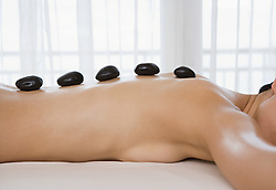 Dec. 14, 2012 - Woman having Lastone therapy (Credit Image: © Image Source/ZUMAPRESS.com)