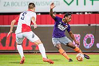 NOVI SAD - 18-08-2016, Vojvodina - AZ, Karadjordje Stadion, Vojvodina speler Kovacevic Vladimir, AZ speler Levi Garcia.