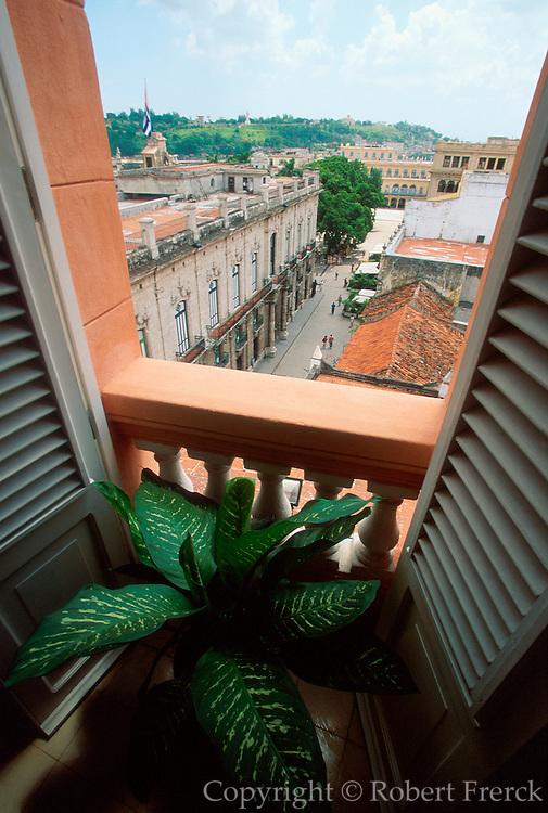 CUBA, HAVANA, HABANA VIEJA View from Hotel Ambros Mundos