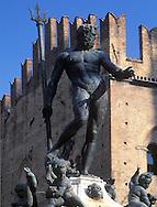 Neptune Statue in the Piazza Maggiore<br /> Bologna, Italy