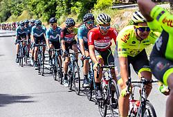 08.07.2019, Zwettl, AUT, Ö-Tour, Österreich Radrundfahrt, 2. Etappe, von Zwettl nach Wiener Neustadt (176,9 km), im Bild Emils Liepins (LAT, Wallonie-Bruxelles), im roten Trikot des Gesamtführenden // Emils Liepins of Latvia (Wallonie-Bruxelles) oveall leader in the leaders jersey during 2nd stage from Zwettl to Wiener Neustadt (176,9 km) of the 2019 Tour of Austria. Zwettl, Austria on 2019/07/08. EXPA Pictures © 2019, PhotoCredit: EXPA/ JFK