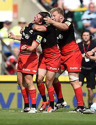 Saracens full back Alex Goode celebrates his wining try  - Mandatory by-line: Joe Meredith/JMP - 28/05/2016 - RUGBY - Twickenham - London, England - Saracens v Exeter Chiefs - Aviva Premiership Final