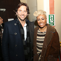 Bradley Cooper and Emeli Sandé at the Nordoff-Robbins Carol Service 2012, St Luke's Church, Chelsea, London. Tuesday, Dec 18, 2012 (Photo/John Marshall JME)