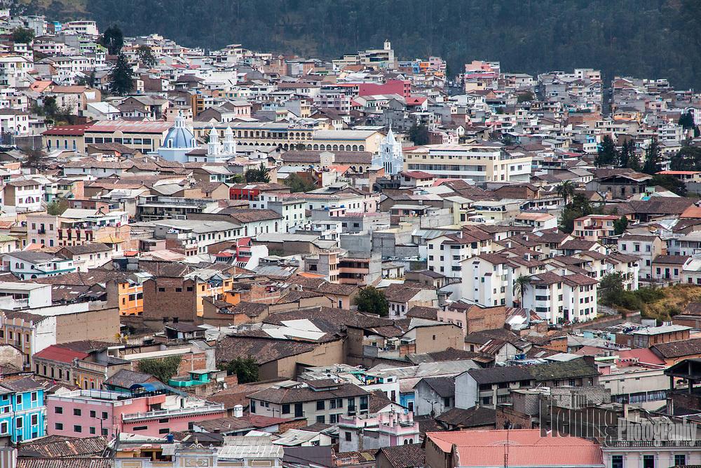 View from the Basilica del Voto Nacional in Quito, Ecuador