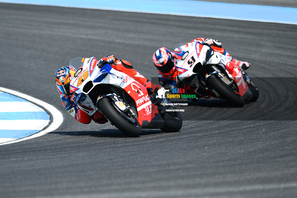 BURIRAM, THAILAND - OCTOBER 06: Jack Miller (43) of Australia and Alma Pramac Racing in Turn 3 during FP3 at the MotoGP PTT Thailand Grand Prix 2018, Chang International Circuit, Buriram, Thailand on October 06, 2018. <br /> .<br /> .<br /> .<br /> (Photo by: Naratip Golf Srisupab/SEALs Sports Images)<br /> .<br /> Any image use must include a mandatory credit line adjacent to the content which should read: Naratip Golf Srisupab/SEALs Sports Images