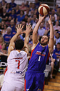 23/10/2014 NBL Adelaide 36ers vs Wollongong Hawks at the Adelaide Arena.
