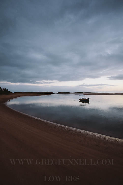 The lagoon in Oualidia at sunrise, Morocco.